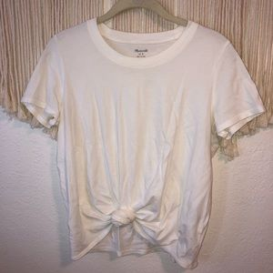 madewell tie front t-shirt